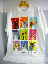 alicia guckenheimer harrell 9 Lives Cat T Shirt size L Graphic Print