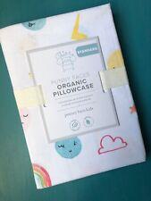 "Pottery Barn Kids FUNNY FACES Organic Pillowcase Standard 20""x30"""