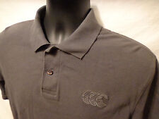 Canterbury of NEw Zealand Short Sleeve Gray Polo Rugby 100% Cotton Shirt Mens S