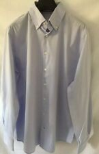 Williams & Edwards Knöpfen figurbetonte Passform hellblaues Shirt Gr. 16.5