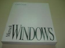 Microsoft Windows 3.1 original users guide