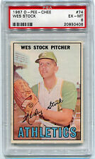 1967 OPC O-Pee-Chee 74 Wes Stock PSA 6 Excellent-Mint EX-MT NQ Pop 3, 6 higher