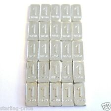 1 Grain Silver Bullion Bar Lot of 25 - Pure Silver .999 Fine Mint Bullion Bars