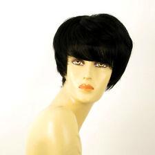 perruque femme 100% cheveux naturel courte noir ref WENDY 1b