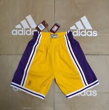 Men's Mitchell & Ness Los Angeles Lakers 96-97 Yellow Swingman Shorts Size S