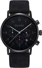 Gigandet Quarz Herren-Armbanduhr Minimalism II Dualzeit Schwarz Grau G21-004