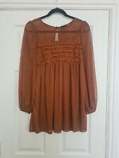 Topshop Chiffon Sleeve Top Dress Size 10