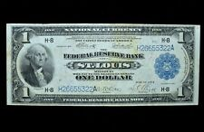 1918 $1 FEDERAL RESERVE NATIONAL BANK NOTE ✪ ST. LOUIS ✪ VF VERY FINE ◢TRUSTED◣