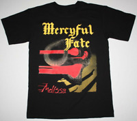 MERCYFUL FATE MELISSA KING DIAMOND 1983 Black T-shirt Men Tee Size S - 4XL PP354