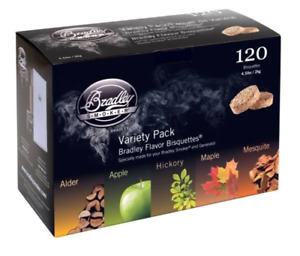 Bradley Smoker Bisquettes 120 Pack - 5 Flavor Variety