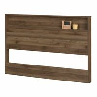 Headboard Full Queen Size Bedroom Furniture Decor Wood Natural Walnut Finish NEW