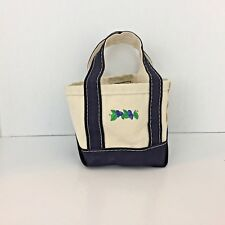 L.L. Bean boat and tote mini canvas bag Blueberries Vintage  USA L11