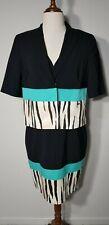 Escada Sport Dress and Jacket Suit, Black & Aqua, Size 38, US 2, UK 6, AU 6