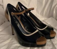 white house black market CRYS black Patent Leather Women's  size 9.5 Medium