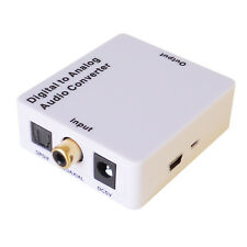 Digital to Analogue Optical Converter D to A Coaxial or Toslink SPDIF to Phono