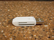 USB 2.0 + USB MICRO OTG SD CARD READER for TABLET PC AD....NIBag!