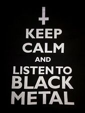 Keep Calm And Listen To Black Metal Vintage T-Shirt Occult Satanic Venom Watain