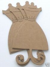 """{12}  DRESS FORM - Mannequin Forms Vintage Bare Chipboard Die Cuts - 2 1/2"""" x 5"""""""