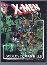 High Grade Marvel Graphic Novel #5 X-Men God Loves Man Kills WPC