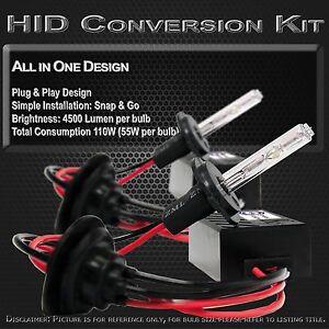 Stark 55W HID Dual Hi / Lo Light Slim All-in-1 Xenon Kit - 9007 HB5 3000k Yellow