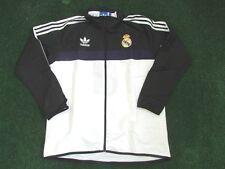 Adidas Originals Real Madrid Veste Rétro Trefoil Coupe-vent Bnwt Blanc LARGE