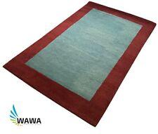 Gabbeh Teppich 120x180 cm Handgeknüpft ~ 100% Wolle ~ Hell Blau ~  Reine Schurwo
