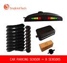 Parking 8 Sensors Car Reverse Backup Rear Buzzer Radar System Kit Sound Alarm