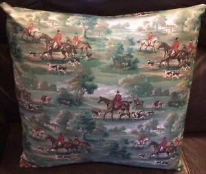 Fox Hunt Hunting Slip Cover Throw Pillow #2