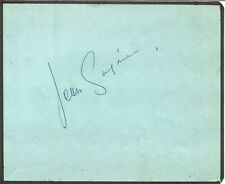 Jean Servais signed album page approx 6 x 4 inches actress E001