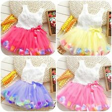 Princesa Tutú de flores de verano, vestidos de Pétalo de bebé de niña's