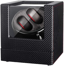 Black Carbon Fiber Pattern for 2 Sepano Double Automatic Watch Winder Box with