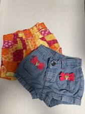 Gymboree, Children's Place Baby Girls Shorts Lot Of 3 Shorts 12-24 Months