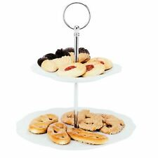 25CM, 2 Level Tiered Wedding Cake Pastry Cookies Pie Stand Beautiful Display