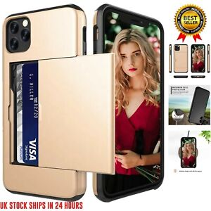 Card Slot Shockproof Bumper Wallet Case iPhone 11 Pro Max XS Max XR X 8 7 Plus