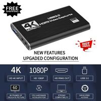 USB 3.0 HDMI Video Capture Card 4K 1080P 60fps Record For Game Live Streaming