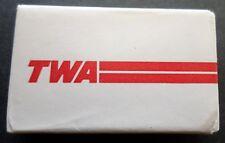 TWA . Soap Bar . Trans World Airways Jet  Aircraft 70's Savon Sapone Seife Zeep