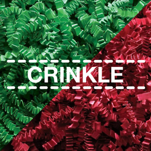 LUXURY Shredded Coloured CRINKLE KRAFT Paper | ZigZag Gift Hamper Filler Shred