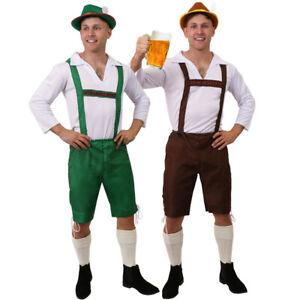 MENS BAVARIAN BEER MAN LEDERHOSEN COSTUME OKTOBERFEST FANCY DRESS GERMAN OUTFIT