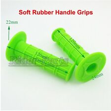 Green Soft Gel Throttle Handle Bar Grips For Pit Dirt Motor Trail Bike Motocross