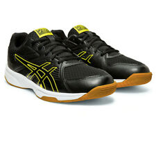 Asics Mens Upcourt 3 Indoor Court Shoes - Black Yellow Sports Squash Breathable