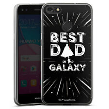 Huawei Y6 Pro (2017) Silikon Hülle Case - Best Dad in Galaxy