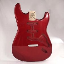 MAKA Red Flake Finish Guitar Body Replacement SSS Routing for Strat