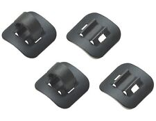 Jagwire DCA056 Alloy Bike Bicycle Stick on Guide 4-5.5mm C-Clips - Black / 4 pcs