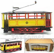 MS638 Yellow Vintage Tram Trolley Streetcar Retro Clockwork Wind Up Tin Toy