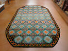 hooked rug mid century modern carpet wool superb piece signed and dated 1970