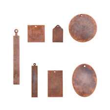 14pcs/Set Red Copper Brass Dog Tag Pendants Stamping Blanks Findings Kit 21~67mm