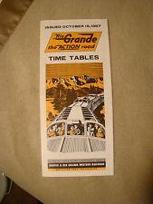 Rio Grande - Timetable - Oct. 15, 1967