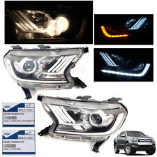 Genuine 2011-2016 Ford Ranger T6 Pick Up Ute Head Light Lamp Projector Pair