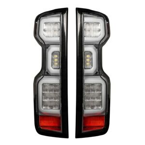 Recon 264397LEDCL Tail Lights OLED Clear For 19-20 Chevy Silverado 1500/2500 NEW
