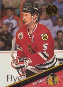 #95 Steve Smith - Chicago Blackhawks - 1993-94 Leaf Hockey